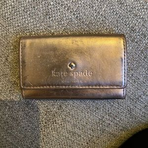 Rose Gold Metallic Kate Spade Card Holder
